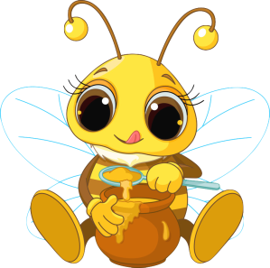 busy bee eat honey
